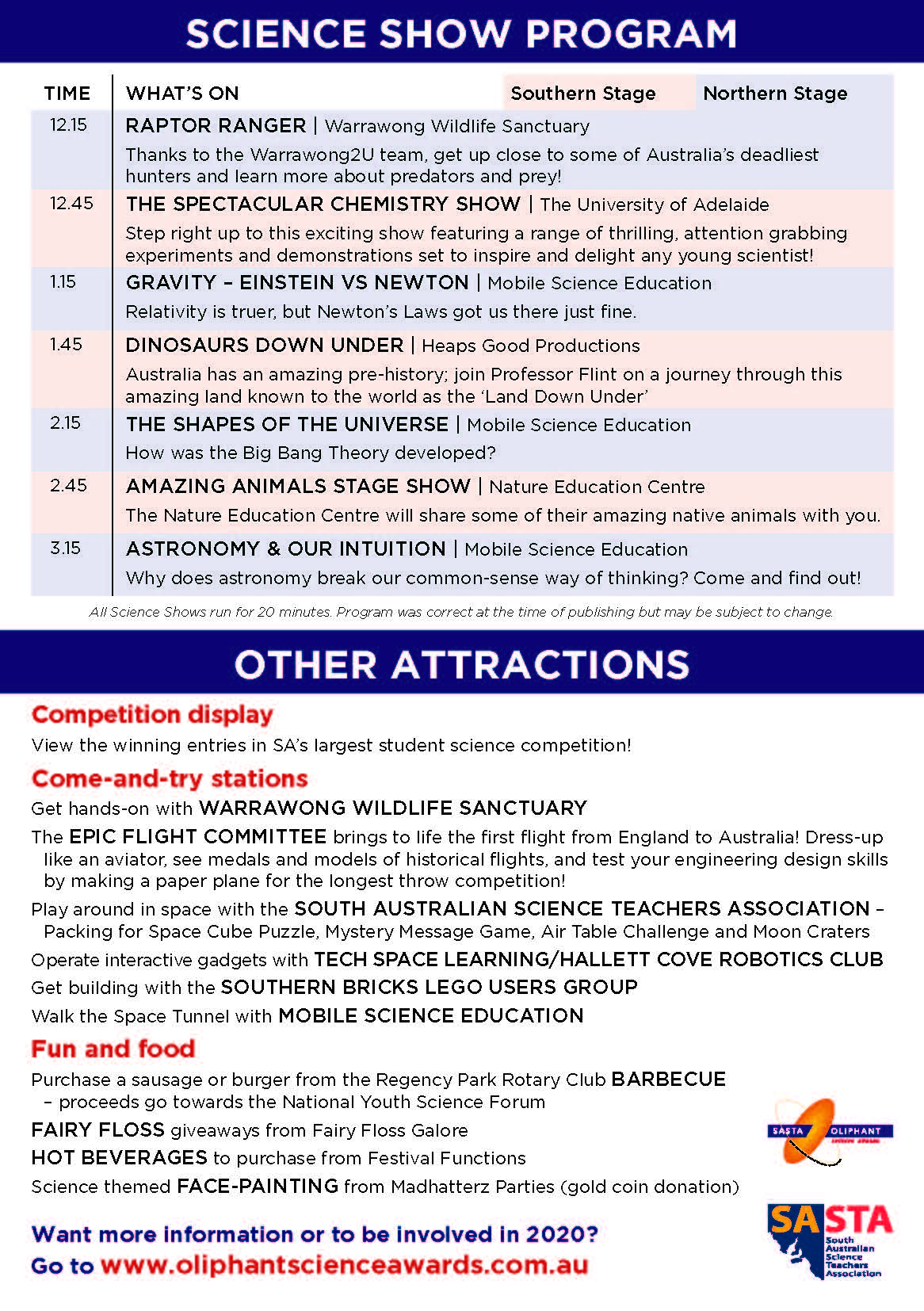 2019 Open Day Flyer Pg2