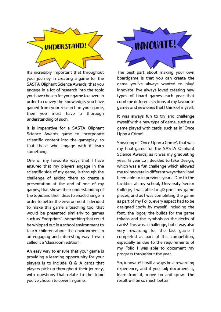 Page2_How to CRUISE Through the SASTA Oliphant Awards